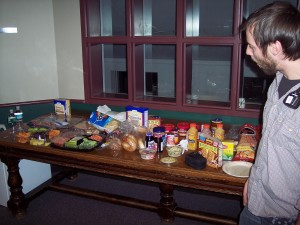 Food Spread at Colby College