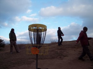 32 degrees and windy. A great day for some disc golf